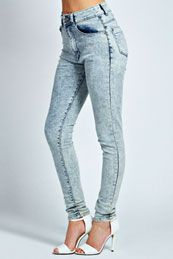 Harley Light Wash Skinny Denim Jeans