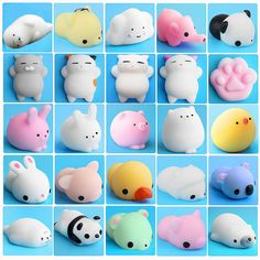 1 Pcs Cat Squishy Slow Rising Kawaii Mini Mochi Bunny Strap Squeeze Stretchy Cute Pendant Kids Toy Bag Accessories Reliable Performance Luggage & Bags