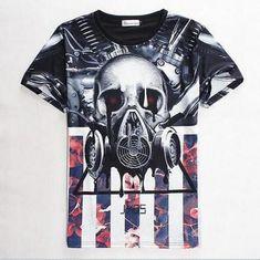 $7.39 - Fashion Style Women's/Men's Heavy Metal 3D Print Sport Casual T-Shirt I14 #ebay #Fashion