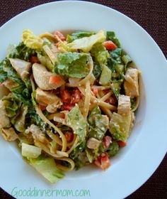 Thai Peanut Chicken Salad - this looks amazing! Love the combination of noodles and lettuce. I'll have to throw in some edamame too.