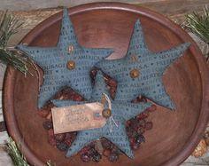 3 Primitive Rustic Americana Patriotic July 4 Star Bowl Fillers Ornies Tucks #Americana #ChooseMoosePrimitiveDesigns