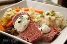 Corned Beef and Cabbage with Horseradish Cream — Punchfork