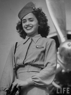 An Air india flight attendant in 1946 by Virgin-Archer, via Flickr
