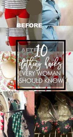 Great tips! Ten clothing hacks every woman should know.