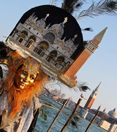 Colorful costumes and masks at the 2010 Carnevale in Venice (IMG_9133a) by Alaskan Dude, via Flickr