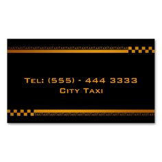 Simple Black Taxi Service Business Card. This is a fully customizable business card and available on several paper types for your needs. You can upload your own image or use the image as is. Just click this template to get started!