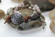 Celtic Bracelet Artisan Pewter Button Artisan by OHineKnotwork, $45.00
