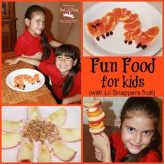 fun and healthy kid snack ideas #LilSnappers fruit