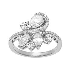 Ring with Swarovski Zirconia in Sterling Silver Size 7 * Details can be found by clicking on the image.Note:It is affiliate link to Amazon. #Jewelry
