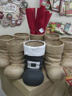 Top 40 Decoration Ideas With Santa Boots Christmas Celebrations If you want to give traditional looks to your home decor but with a unique taste, you can opt for Santa boots decoration. Christmas Open House, Christmas Makes, Plaid Christmas, Christmas Art, All Things Christmas, Christmas Stockings, Christmas Wreaths, Christmas Ornaments, Christmas Cookies
