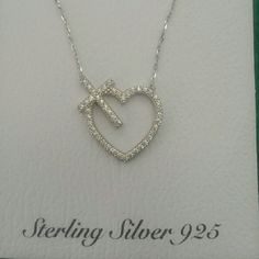 Heart&cross necklace Stamped 925 with CZ stones. Brand new Jewelry Necklaces