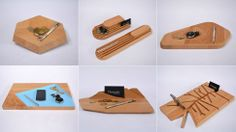 10 Desk Accessories Designed From A Single Slab Of Wood