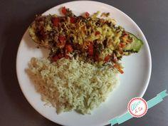 Recept: Gevulde courgette met gehakt Grains, Rice, Food Ideas, Blog, Salads, Blogging, Seeds, Laughter, Jim Rice