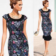 Women fishtail dress  summer Slim Black printing Short sleeve dress party dresses for women Mermaid Party Dresses Lady's clothes