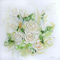 roses white by Ludmila Skripchenko