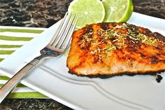 The Barbee Housewife: Pan Seared Honey Glazed Salmon with Browned Butter Lime Sauce