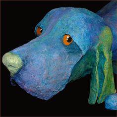 by Judge, Paper Mache Dog Sculpture
