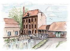 Deze watermolen stond op de plaats waar nu de TUe ongeveer gebouwd is. Er is sprake van dat daar in 1379 al een watermolen stond. In 1860 is deze in steen vernieuwd en uiteindelijk in 1956 afgebroken. Hij werd ook de Schimmelse watermolen genoemd.