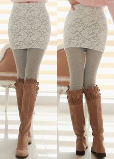 Today's Hot Pick :Basic Lace Skirt and Leggings http://fashionstylep.com/SFSELFAA0000336/bapumken1/out High quality Korean fashion direct from our design studio in South Korea! We offer competitive pricing and guaranteed quality products. If you have any questions about sizing feel free to contact us any time and we can provide detailed measurements.