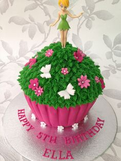 Tinkerbell giant cupcake