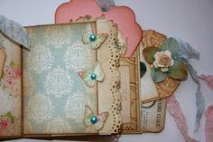Shabby Beautiful Scrapbooking: Sassy sweet Shabby chic library pocket album