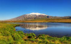 #trek #islande Snæfellsjökull au petit matin par Axel Kristinsson