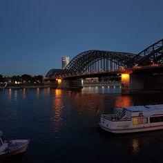 Blue Hour #Cologne #Sunset #Sundown #Rhine #Rhinegarden...
