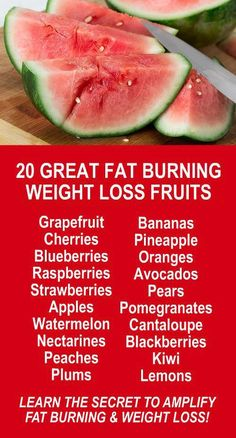 20 Great Fat Burning Weight Loss Fruits. Get healthy and lose weight with our alkaline rich, antioxidant loaded, weight loss products that help you increase energy, detox, cleanse, burn fat and lose weight more efficiently without changing your diet, increasing your exercise, or altering your lifestyle. LEARN MORE #Fruits #Detox #Cleanse #Antioxidants #Alkaline #FatBurning #WeightLoss #MetabolismBoosting