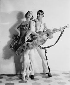 Anna Pavlova (1885-1931) dancing partner Lawrence Novikoff.1925