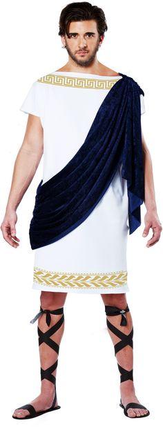Sash-Decoracion-Grecian-Toga-tunica-Bata-Egipcio-Griega-Romana-Traje-Adulto-Hombre