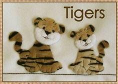 Tigers applique kit (copyright Jan Kerton). Available from Australian Needle Arts. To view full range and details please visit http://www.australianneedlearts.com.au/applique-blankets-jan-kerton