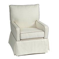 White with Grey Mesa Nursery Glider  Modern and Neutral!