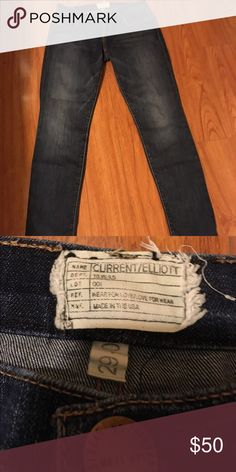 Current/Elliott Boyfriend Jeans Slightly darker wash that you can dress up for a night out. Current/Elliott Jeans Boyfriend