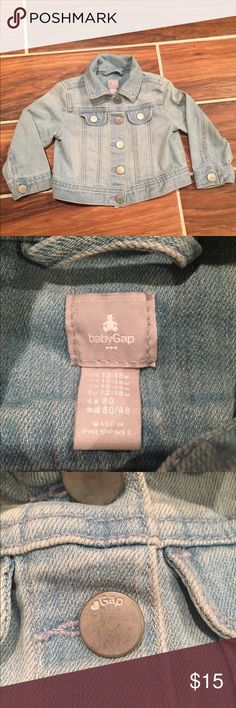 GAP Jean Jacket Light denim color. My daughter wore a couple times and grew out of it.  Like new! GAP Jackets & Coats Jean Jackets