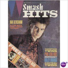 SMASH HITS MUSIC MAGAZINE 11TH APRIL 1985 NIK KERSHAW