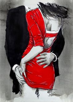 Canvas Prints by Loui Jover Small Drawings, Sexy Drawings, Art Drawings, Romance Art, Canvas Prints, Art Prints, Couple Art, Erotic Art, Love Art