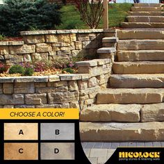 New for 2015 – Irregular Steps from the Rosetta by Nicolock collection! Which color would you choose?