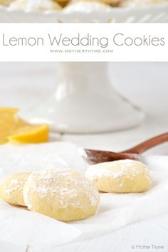 Lemon Wedding Cookies | Mother Thyme.  Note:  Uses lemon instant pudding mix (3 4-oz pkgs)
