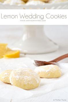 Lemon Wedding Cookies