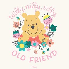 There's nothing sweeter than an old friend. Share this thought with your dearest friend today! Or print & frame for baby's nursery, baby shower decor, or use as decor for a Winnie the Pooh birthday party. #FirstBestFriend #WinniethePooh