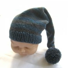Merino Wool pixie hat; teal and charcoal £19.99