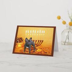Shop French Bulldog Chanukah Card Menorah created by normagolden. How To Celebrate Hanukkah, Hanukkah Cards, Love Holidays, Menorah, Egg Shells, Paper Texture, Peace And Love, Holiday Cards, French Bulldog