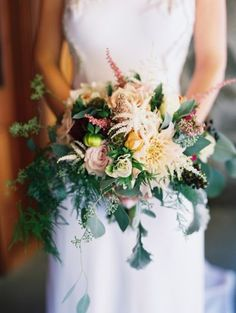 Wedding Bouquets :     Picture    Description  Dahlias and astilbe: www.stylemepretty…    - #Bouquets https://weddinglande.com/accessories/bouquets/wedding-bouquets-dahlias-and-astilbe-www-stylemepretty/