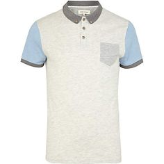 Men's colour block polo shirt #riverisland