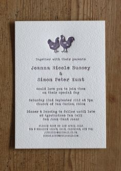 Definitely cute farm wedding inspired invitations