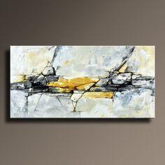ABSTRACT KUNST SCHILDERIJ ZWART WIT GEEL GRIJS BLAUW SCHILDERIJ GROTE MODERNE WALL ART ORIGINEEL CONTEMPORARY CANVAS ART ACRYL SCHILDERIJ HOME DECOR Dit is een origineel Acryl schilderij op canvas zonder rek. Dit wordt direct verzonden van mijn studio. Ter bescherming van schilderij goed