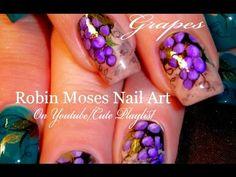 Grape Nails | Easy Vineyard Nail Art Design Tutorial - YouTube