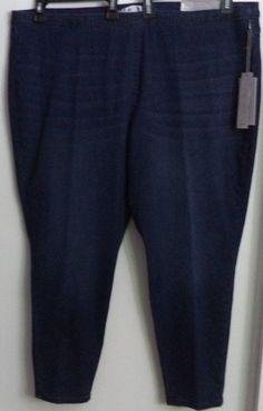 Jennifer Lopez Dark Blue Jegging Jeans Women's Plus Size 24W Short #JenniferLopez #Leggings