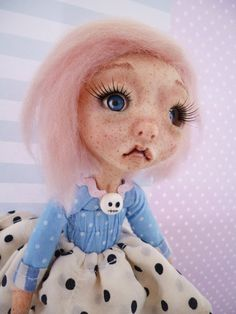 Art Doll OOAK handmade polymer clay doll poseable by 0TheNeverland