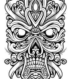 Skull Mask by tattoos tatoo tattoos maori tattoos deviantart tattoos sleeve Skull Coloring Pages, Coloring Book Pages, Skull Tattoos, Sleeve Tattoos, Maori Tattoos, Filipino Tattoos, Tatoos, Tattoos Pics, Tiki Tattoo